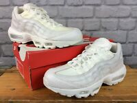 NIKE MENS UK 8 EU 42.5 AIR MAX 95 SUMMIT WHITE SCALES TRAINERS RRP £125 LB