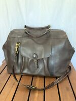 MULHOLLAND All leather Vintage Authentic Duffle Bag Brown Leather Travel Bag