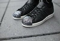 ADIDAS SUPERSTAR 80'S 3D METAL TOE BLACK WOMENS TRAINERS SIZE UK 6.5 EUR 40 RARE