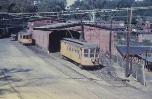 Trolley Slide - Springfield Terminal Railroad #40 Streetcar Vermont VT 1940s
