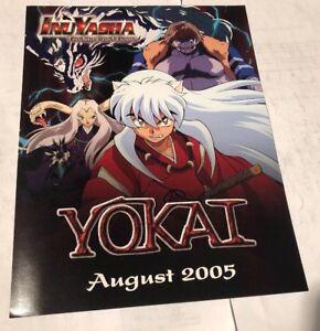 Inuyasha Promo Sell Sheet 2005 Yokai