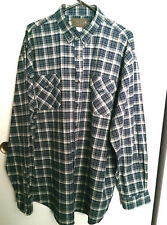 MAGELLAN SPORTSWEAR XXL MEN'S LONG SLEEVE SHIRT BUTTON DOWN BLUE CHECKS