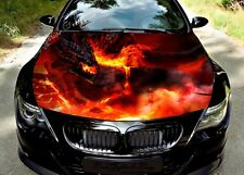 Fire Dragon Hood Full Color Graphics Wrap Decal Vinyl Sticker Fit any Car #297
