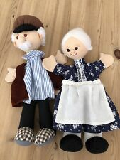Handpuppen Trullala 💙Oma und Opa 🧡mit Beinen, wie neu😃