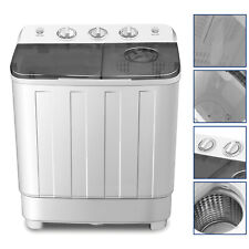 Portable 17lbs Mini Washing Machine Twin Tub Top Load Compact Washer Spin/Dryer