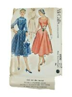 McCalls 8920 Misses Dress Redingote Vintage Sewing Pattern Size 16 OOP UNCUT