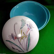 CROWN DEVON FIELDING STYLISED ATOMIC LILY TUREEN SERVING DISH VINTAGE MID C