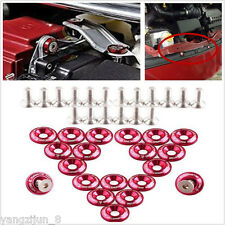20X Red Auto Vehicles Fender/Bumper Washer Engine Bay Dress Up Kit Installation
