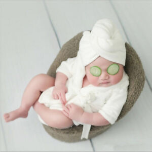 Soft Flannel Bathrobes Wrap Newborn Baby Photography Props Infant Bath Towel New