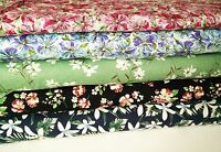 1940s Dressmaking Fabric, Craft Fabric, Vintage Fabric, Cotton Fabric, Floral