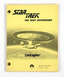 """STAR TREK: TNG ORIGINAL SCRIPT- """"Contagion,"""" Written by Gerber & Woods"""