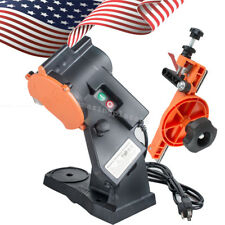 【US FAST】Electric Chain Saw Sharpener Bench Grinder Chainsaw Grinder Bench Mount