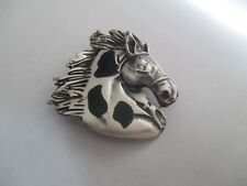 Silver.Big.Solid and Sturdy.Great Look.New. Horse Head Pin/Pendant .Sterling