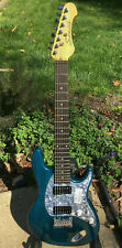 Samick 7-String Electric Guitar Ash Blue New In Box KOREA 1 of 100 Made