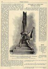 Das Iltis-Denkmal für die untergegangenen deutsche Mannschaft in Schanghai 1899