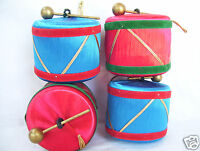 Lot Of 4 Musician Drum Christmas Tree Ornaments