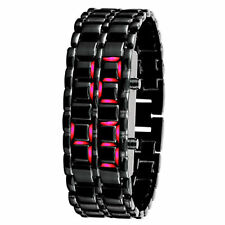 Luxus Herren Armbanduhr Edelstahl Datum Digital LED Armband Sportuhr