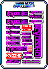 KYOSHO MODEL RC CAR DRONE BOAT BUGGY MINI Z STICKERS DECALS ROBOT R/C PNK/PUR B