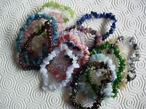 rare set gem chip bracelets x 15 ideal for a present  (U.K. seller since 2003)
