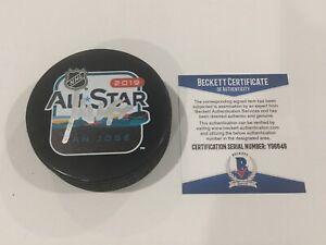 Miro Heiskanen Signed 2019 NHL ALL STAR ALL-STAR Puck Beckett BAS COA GO STARS a