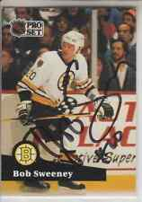 Autographed 91/92 Pro Set Bob Sweeney - Bruins