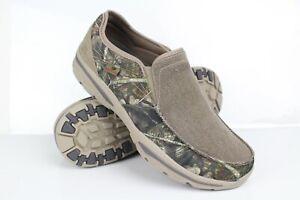 Skechers Men's Creston Moseco Moccasin Casual Slip On Size 11.5 Mossy Oak 65355