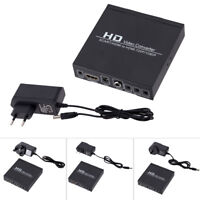 720P/1080P SCART/ HDMI to HDMI Converter Audio Video Scaler Adapter with US Plug