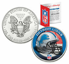 DETROIT LIONS 1 Oz American Silver Eagle $1 US Coin Colorized NFL LICENSED