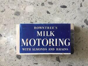 Rowntrees Motoring Chocolate Dummy Bar