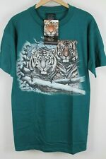 NWT VTG Habitat Mens Blue Tiger Graphic T-Shirt Sz Large