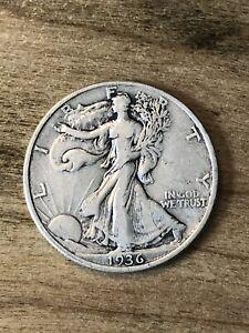 1936 Walking Liberty Half Dollar VF