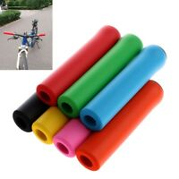 Mountain Bike Scooter Anti-slip Soft Silicone Handle Bar Ends Bicycle Hand Grips