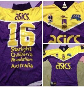Parramatta Eels Starlight Foundation Game  Players Worn Purple Issue Jersey