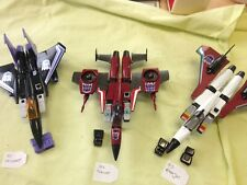 Vintage Transformers G1 Skywarp , Thrust , And Ramjet