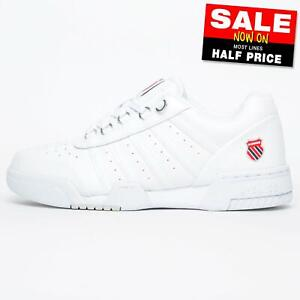 K Swiss Gstaad 86 Men's Leather Retro Court Fashion Trainers White