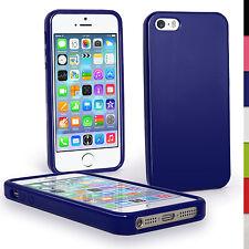 Blau Glänzend Gel Case Cover für Neue Apple iPhone 5 5S SE Tasche Etui TPU