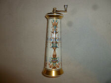 Lenox Lido Painted Porcelain Pepper Mill Grinder 24 Karat Gold Trim Mayfair
