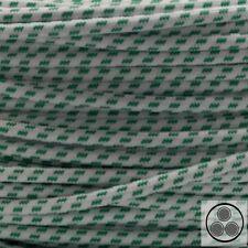 Textilkabel Stoffkabel Lampen-Kabel Stromkabel Elektrokabel Welle Grün 3adrig