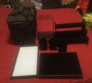 Jewelry Display Stands Lot Black Velvet Blue Velvet Bracelet Holder Carrier Bag