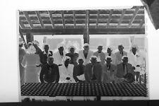 (8) B&W Press Photo Negative Group Portraits Social Event Picnic Tables - T5115