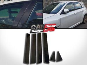(6) Carbon Fiber Door Pillar Panel Cover Set for 08-14 Subaru Impreza Hatch GRB