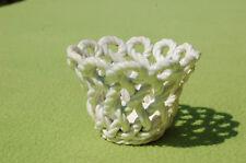 Coppa cestino in ceramica intrecciato bianca 6,2 cm
