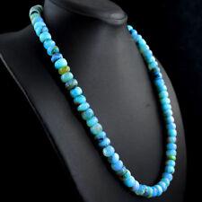 425.00 Cts Natural Peruvian Opal Round Beads Single Strand Necklace NK- 09MK3
