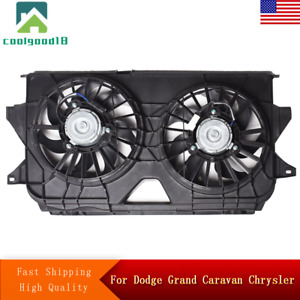 Radiator Cooling Fan Assembly For Chrysler Town & Country Dodge Grand Caravan