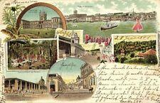 paraguay, ASUNCION, Palacio del Lopez, Campamiento de Indios, Mercado 1901 Stamp