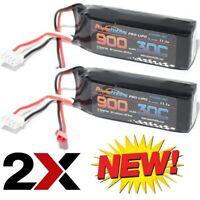 Powerhobby 3S 11.1V 900mAh 30C Lipo Battery 2 Pack w JST Connector (2)