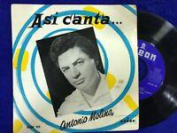 """ANTONIO MOLINA SINGLE 7"""" VINILO ASI CANTA EL AGUA DEL AVELLANO SERRANIA BENDITA"""
