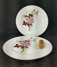 2 Block Spal WESTERN ROSE SALAD PLATES  Mary Lou Goertzen 1981