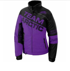 New Women's Arctic Cat Team Arctic Jacket - Purple - Large - # 5291-044