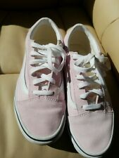 Womens Pink Vans Size Uk 5 old skool suede & material